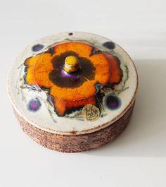Vintage fat lava bowl. Jan van Erp by VintageRetroVases on Etsy