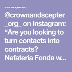 "@crownandscepter_org_ on Instagram: ""Are you looking to turn contacts into contracts? Nefateria Fonda wants to show you how! DO NOT miss her…"" Missing Her, You Look, Events, Instagram"