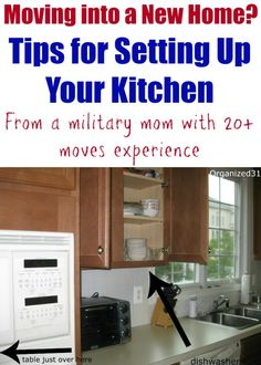 Moving into a New Home? How to Set Up Your Kitchen Moving into a New Home & How to Set Up Your Kitchen - Organized 31 Moving Checklist, Moving Tips, Moving Hacks, Kitchen Organization, Organization Hacks, Organized Kitchen, Household Organization, Organizing Ideas, Kitchen Storage