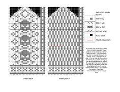 View album on Yandex. Knitted Mittens Pattern, Crochet Mittens, Crochet Gloves, Crochet Skull, Crochet Geek, Knit Or Crochet, Crochet Diagram, Crochet Chart, Wrist Warmers