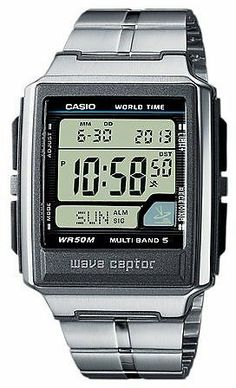 Casio Wave Ceptor 25033 Digital Watch for Him Radio time of 5 zones Casio. $104.95