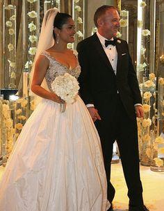 Salma Hayek's Balenciaga gown. Wowzers.