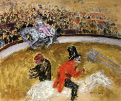 Pierre Bonnard - At the Circus, 1895, oil on wood