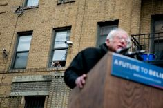 Bernie Sanders Back in the Old Neighborhood to Make His Case - The New York Times