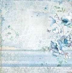 Paper Pad - Blue Land Double Sided Sheets) by Stamperia for Scrapbooks, Cards, & Crafting