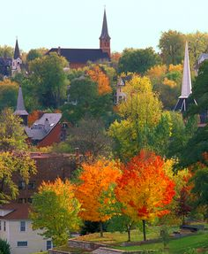 Stillwater, MN in the fall.