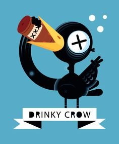 Drinky Crow by ~Helbetico on deviantART