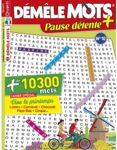 Démêle Mots Pause Détente + 10 - 10300 MOTS à trouver - Cahier spécial Printemps Monopoly, Games, Entertaining, Notebook, Words, Spring, Gaming, Plays, Game