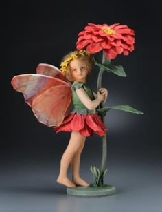 R-John-Wright-The-Zinnia-Fairy-Flower-Fairy-Collection (from Cicely Mary Barker's drawings!)