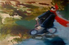 Rushing after Tom Waits  Oil on canvas by David Nemeth