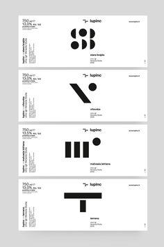 LUPINC — Wine estates on Behance Web Design, Book Design, Layout Design, Logo Design Trends, Editorial Layout, Editorial Design, Typography Poster, Graphic Design Typography, Ideal Logo