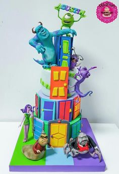 Monsters Inc cake - http://cakesdecor.com/cakes/272633-monsters-inc-cake