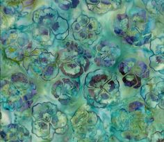 pansies print batik fabric -- I have some which is similar.