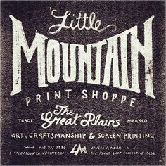 Handdrawn typyography by Little Mountain Print. See more of our favorties on Insa: https://instagram.com/extensis/  #Handdrawn #type #typography Repost via @littlemountainprint #littlemountainprint #thegreatplains #screenprinting #craftsmanship #welovetype
