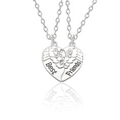 Trillion Diamond Necklace / Triangle Cut Diamond Solitaire / Solitaire Diamond Necklace / Dainty Diamond Necklace for Women Ferkos Fine Jewelry *** The listing is for one Trillion Cut Solitaire Necklace Item Details ✔ Made to Order. Bestfriend Necklaces For 2, Best Friend Necklaces, Bff, Couple Necklaces, Friend Jewelry, Friendship Necklaces, Friendship Gifts, Heart Choker, Diamond Solitaire Necklace