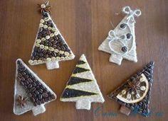 Káva Vianočné stromčeky magnety na chladničku