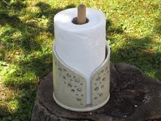 pottery paper towel holder