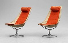 Bruno Mathsson, Jetsonn II prototype chairs,  Year 1966,   Manufacturer Karl Mathsson