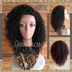 ON SALE // Curly Lace Front Wig Kinky Curly Afro Wig by GloryTress