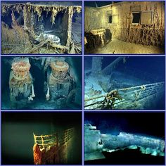 Titanic as we see her today. Photos courtesy of Premier Exhibitions, Inc. and National Geographic. Titanic Wreck, Real Titanic, Titanic Photos, Titanic History, Underwater Shipwreck, Titanic Underwater, Titanic Survivors, Titanic Artifacts, Hms Hood