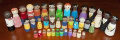 Detailed tutorial on painting peg dolls with link to website for blanks