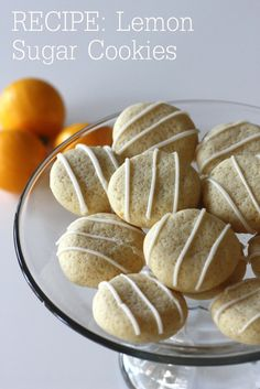 Delicious lemon sugar cookies #recipes #cookies
