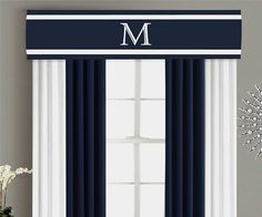 Valance Cornice Board Pelmet Box Window Treatment in Navy Blue   A cornice board window treatment, also known as a pelmet or valance box, is a great alternative to a soft curtain valances to create the feel of a custom designed space in your home. Valance boxes create a beautiful frame for your your curtains and also provide pop of color and texture to your windows when used with roman shades, blinds, roller shades or without any additional window treatments at all. The hidden dust shelf…
