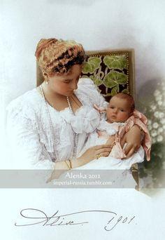 Alix and baby Anastasia by ~VelkokneznaMaria on deviantART