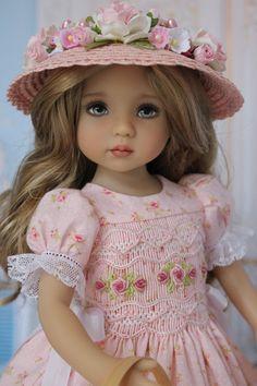 "OOAK Smocked Dress Ensemble for Effner 13"" Little Darling Dolls by DHD #DollHeirloomDesigns"