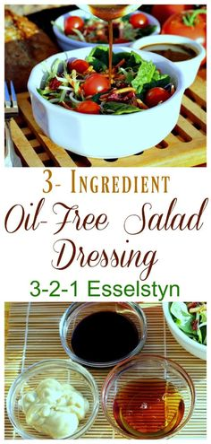 It's all about simplicity! This dressing is great on pasta and bean salads as well as regular garden salads. With only three ingredients required it's likely you've already got everything needed on-hand. Oil Free Salad Dressing, Salad Dressing Recipes, Salad Dressings, Fat Free Salad Dressing Recipe, Vegan Dressings, Plant Based Eating, Plant Based Diet, Plant Based Recipes, Diet Salad Recipes