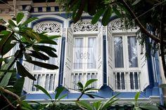 Peranakan windows in Singapore