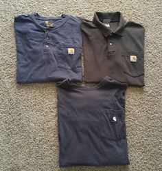 Carhartt Lot of 3 Three XL Short Sleeve Pocket Mens Shirts Work  EUC