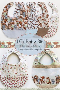 Baby Bib Sewing Tutorial featuring Camp Cricket