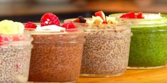 4 chia pudding recipes, perfect for a snack or breakfast Good Foods To Eat, Healthy Foods To Eat, Healthy Dinner Recipes, Health Breakfast, Breakfast For Kids, Breakfast Ideas, Pouding Chia, Easy Vegetarian Lunch, Sour Cream And Onion