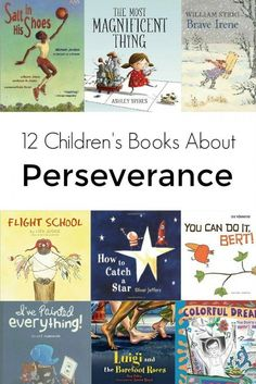 Teach kids the importance of perseverance with these books - both fiction and non-fiction - that illustrate why staying with a goal, despite challenges or setbacks, can be so very gratifying. 12 Children's Books About Perseverance fiction books Kids Reading, Teaching Reading, Teaching Kids, Reading Lists, Teaching Quotes, Primary Teaching, Reading Books, Kindergarten Activities, Teaching English