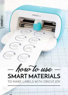 The Cricut Joy is the best and easiest Cricut machine to use for organizing your home. Come learn how to use Smart Materials to make labels with Cricut Joy! Diy Craft Projects, Craft Tutorials, Diy Crafts, Smart Materials, How To Make Labels, Red Boots, Organizing Your Home, Project Yourself, Being Used