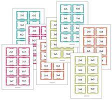 Mooie flitskaarten + werkbundeltjes tafels http://lessenvanlisa.nl/idee-n/rekenen/automatiseren.html