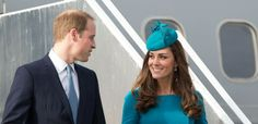 The royal couple arriving in Dunedin  airport in Dunedin. Marty Melville, AFP/Getty Images.