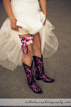 omg i love these boots id like these just to wear anytime i dont like the idea of wearing cowboy boots with your wedding dress but that's just my personal taste