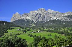 Mountains outside of Cortina from VBT's Dolomites bike tour. #Italy