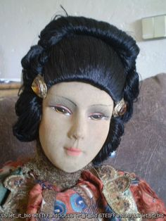 Rare Asian salon boudoir doll.