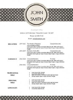 Pink Resume Template With A White Background And A Pink Circle