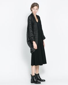 ZARA - WOMAN - JACQUARD WRAP-AROUND CARDIGAN