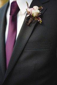 Purple Ties for Groomsmen