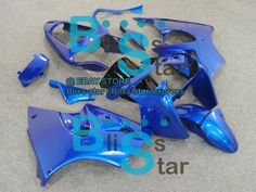 All Blue INJECTION Fairing Plastic Kit Set Kawasaki ZZR600 05-08 049 A2
