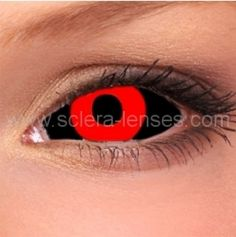 Sclera contacts are designed for cover the whole eye. You can find in our shop a wide range of sclera contact lenses for great prices. Very popular are Black Sclera and Red Sclera contacts. You can use it for Halloween costume with great effect. But don´t forget check our range. In our offer is more lenses, not only the most popular black scleras. We work closely with producers of sclera contacts
