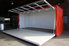 The AutoWolf is a fully-automated, 20 foot shipping container. Powered to automatically fold down its side and deploy its awning. The ultimate pop up container. Container Home Designs, Container Office, Container Shop, Cargo Container, Building A Container Home, Container Buildings, Container Architecture, Container House Plans, Shipping Container Store