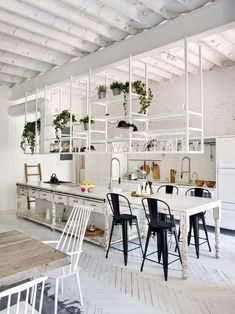 Step inside this light, open plan apartment in a mansion block in central Barcelona Loft Living: Inside A Light Open-Plan Floor Apartment in Central Barcelona