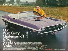 1970 Dodge Plum Crazy Challenger R/T Convertible
