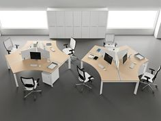 Modern Office Desks Furniture Design Entity by New York Designer, Antonio Morello